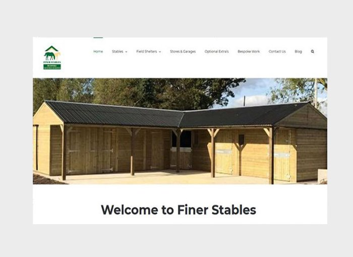 FINER STABLES WORDPRESS DESIGN PORTFOLIO