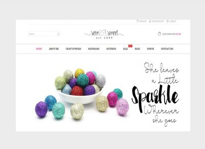 SEW SWEET wordpress design