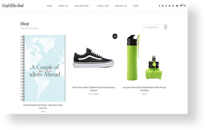 a couple of idiots abroad store by rr webdesign