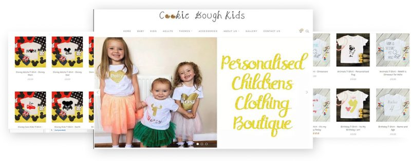 cookie dough kids wordpress website design by rr webdesign