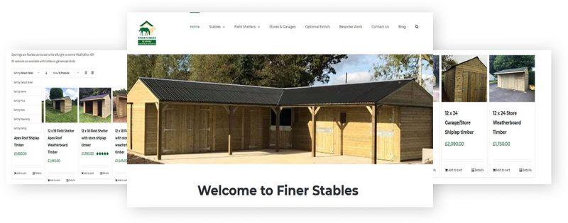 finer stables wordpress website by rr webdesign