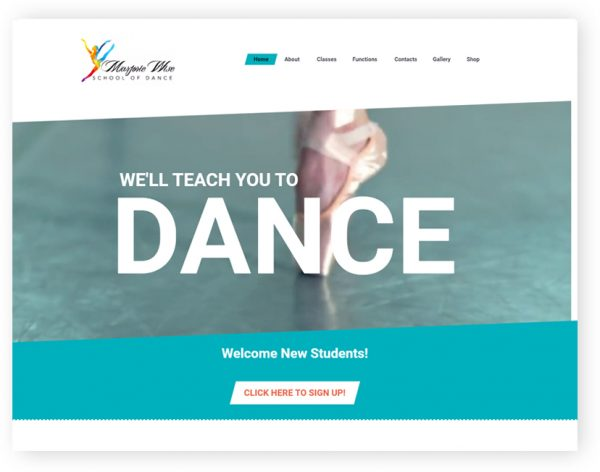 a57816c7fd8 marjorie wise dance school wordpress website by rr webdesign leicester