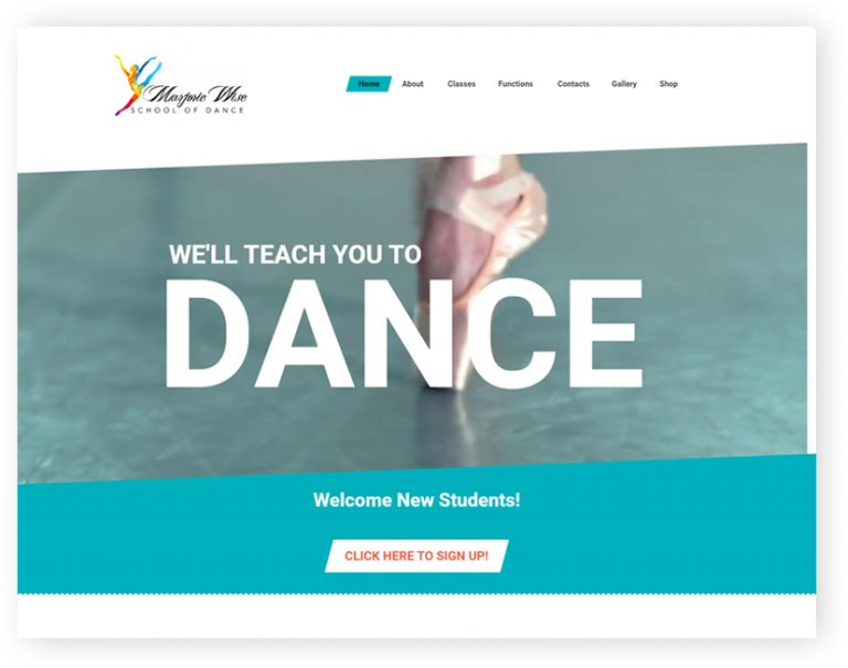 marjorie wise dance school wordpress website by rr webdesign leicester