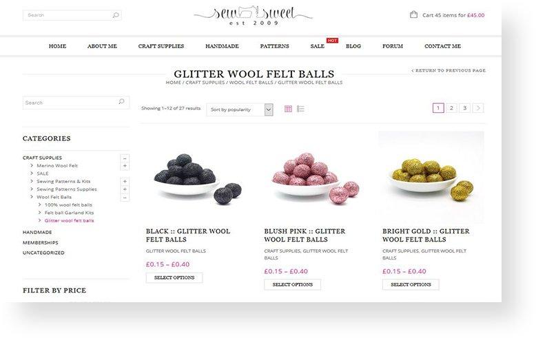 sew sweet woocommerce rrwebdesign product page