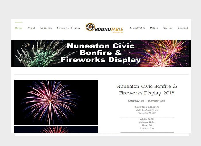 nuneaton bondfire and fireworks rrwebdesign