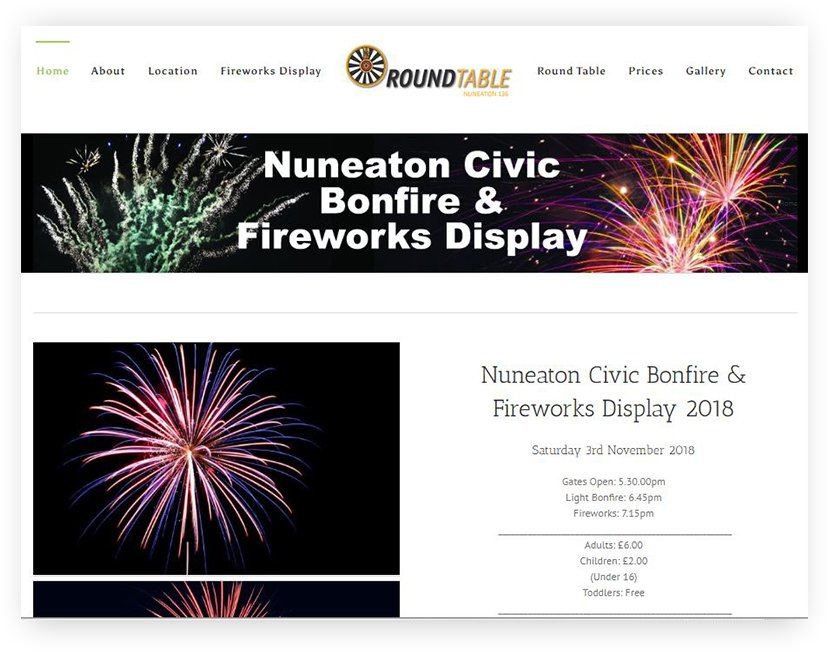 nuneaton bonfire and fireworks