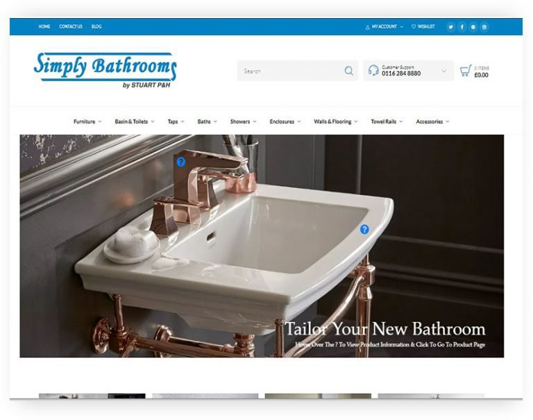simply bathrooms wordpress by rrwebdesign leciestershire