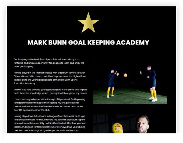 mark bunn goal keeping