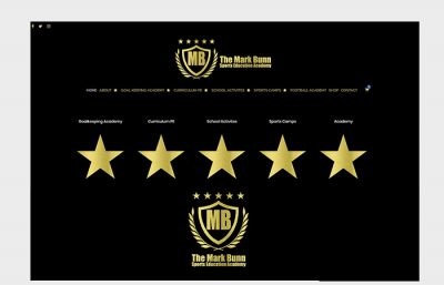 mark bunn sports website design