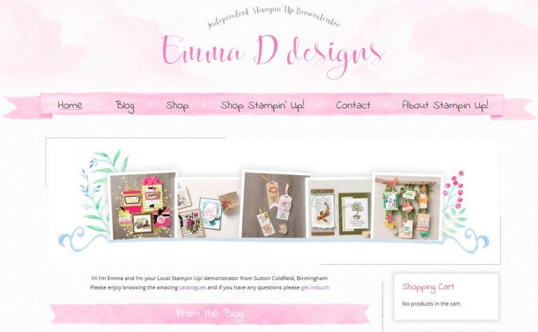 Emma D Designs wordpress and woocommerce website