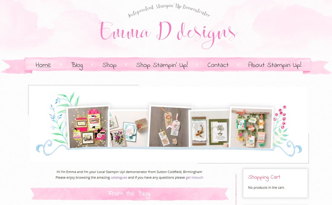 Emma D Designs wordpress and woocommerce website