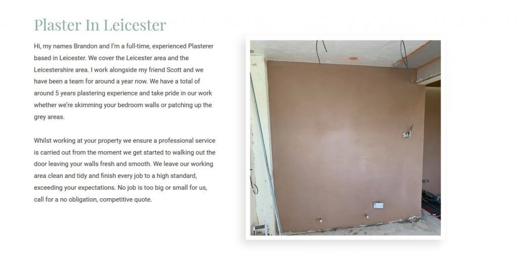 plastering leicester